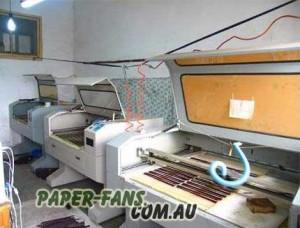 Papír legyezők készítése